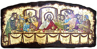 last supper religious byzantine icon